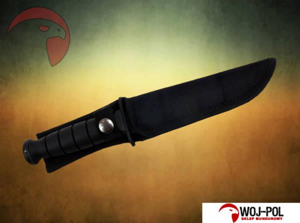 Wojskowy nóż survivalowy mtechusa czarny (ka-bar)