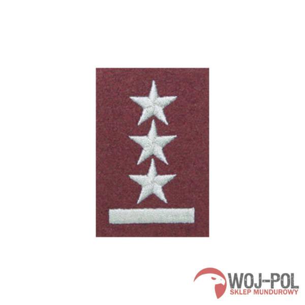 Stopień na beret bordowy porucznik haftowany