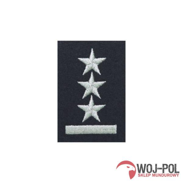 Stopień na beret czarny porucznik haftowany