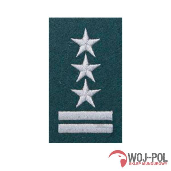 Stopień na beret zielony pułkownik haftowany