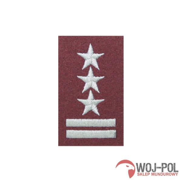 Stopień na beret bordowy pułkownik haftowany