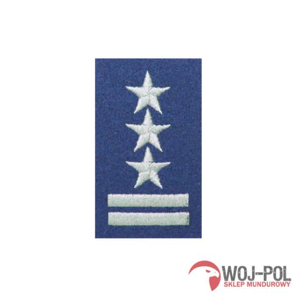 Stopień na beret niebieski pułkownik haftowany
