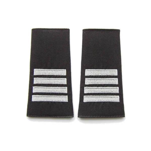 Pagony (pochewki) czarne do polaru straży granicznej – plutonowy