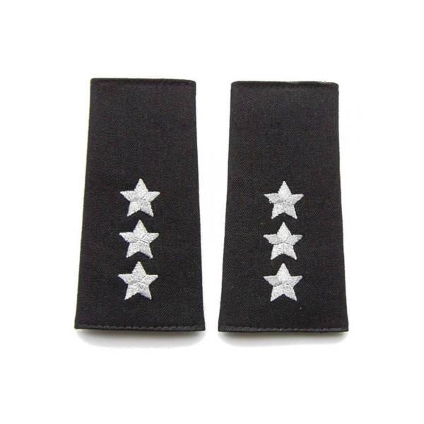 Pagony (pochewki) czarne do polaru straży granicznej – porucznik