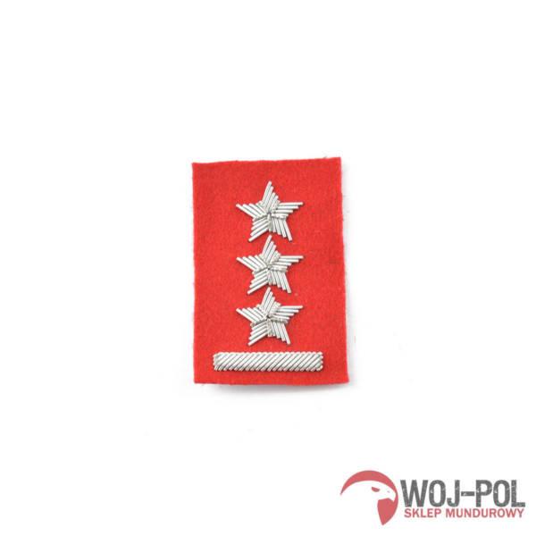 Porucznik na beret szkarłatny haftowany bajorkiem