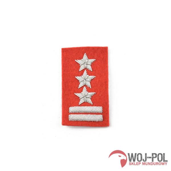Pułkownik na beret szkarłatny haftowany bajorkiem