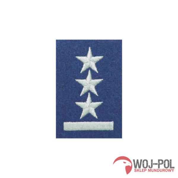 Stopień na beret niebieski porucznik haftowany