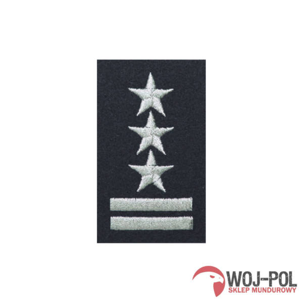 Stopień na beret czarny pułkownik haftowany