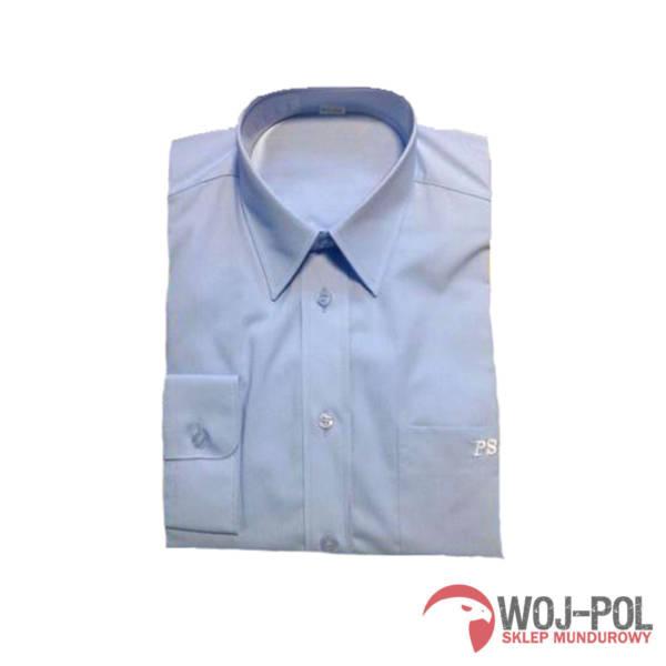 Koszula niebieska z napisem psp z długim rękawem