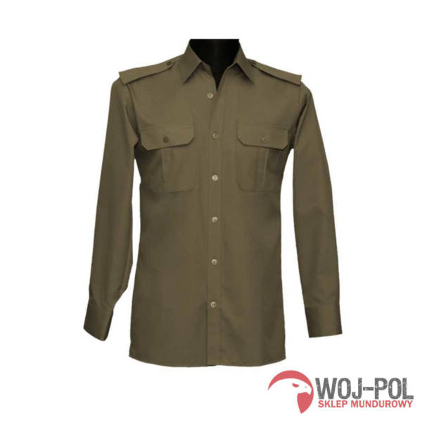 Koszulo-bluza oficerska 310d/mon kolor khaki z długim rękawem 39/173