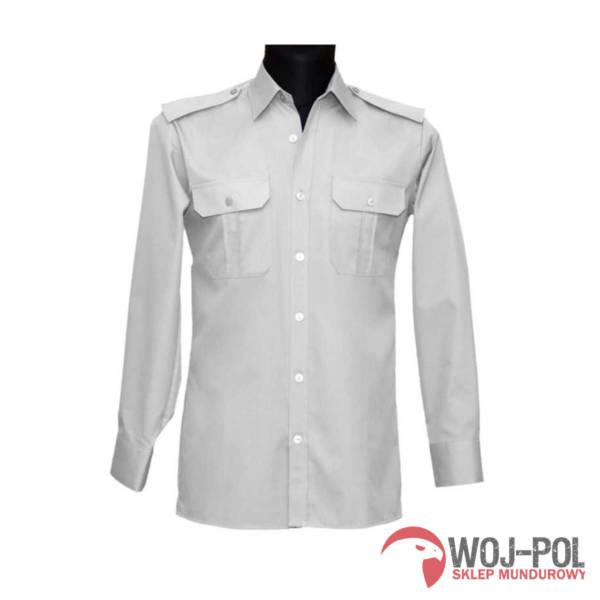 Koszulo-bluza oficerska 310/mon kolor biały z długim rękawem