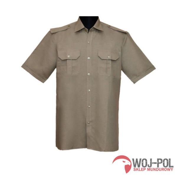 Koszulo-bluza oficerska 301/mon lniana z krótkim rękawem kolor oliwka 41/177