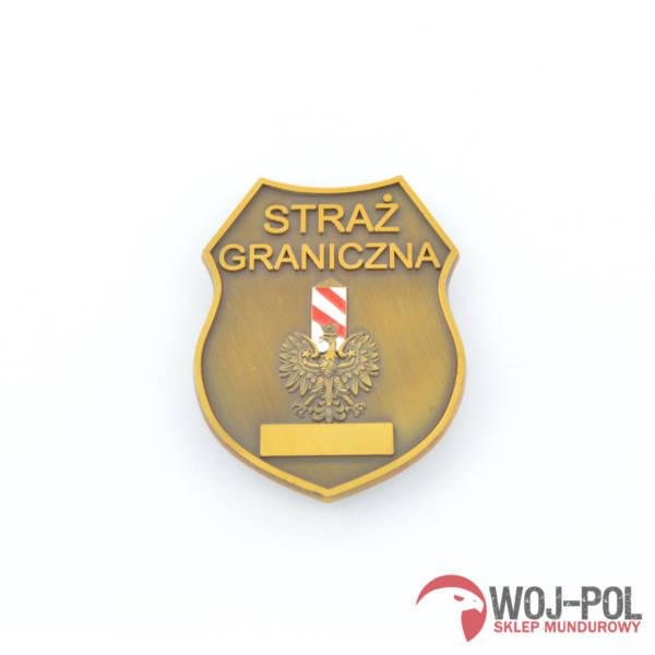 Blacha odznaka sg straży granicznej z grawerem
