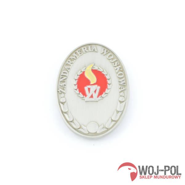 Blacha odznaka Żw Żandarmerii wojskowej z grawerem