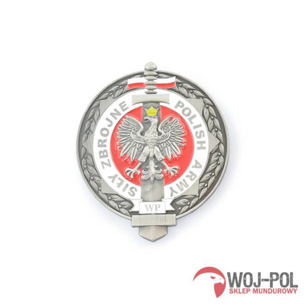 Blacha odznaka siły zbrojne wp – polish army z grawerem