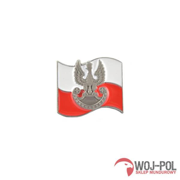 Flaga z orzełkiem pins