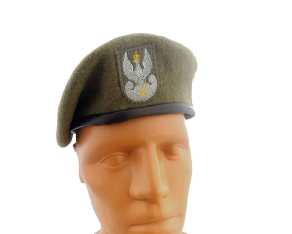 Beret khaki wojska obrony terytorialnej wot