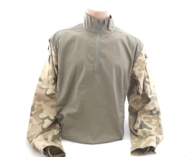 Koszulo-bluza pod kamizelkę ochronną w kamuflażu pustynnym
