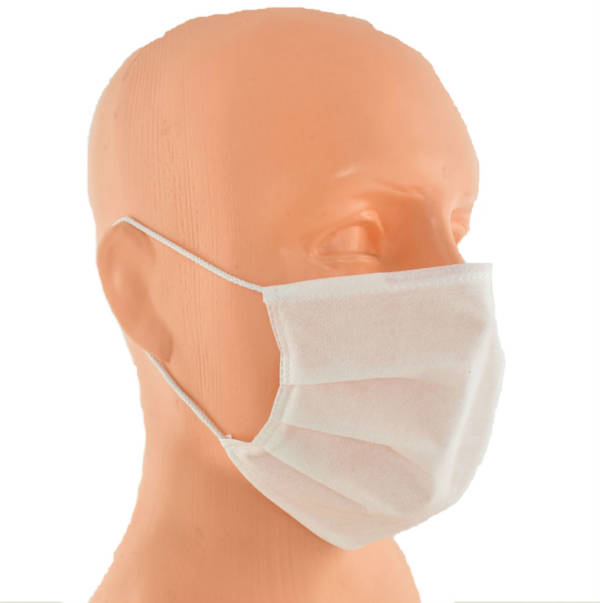 Maska maseczka na twarz trójwarstwowa biała