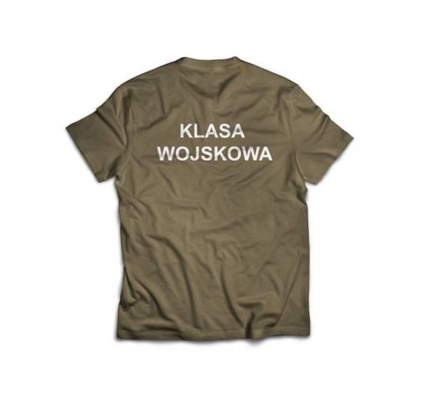 Koszulka z napisem klasa wojskowa