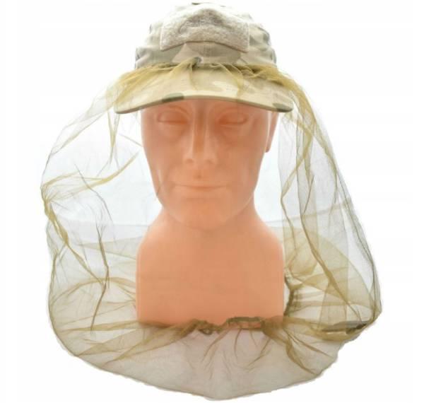 Moskitiera na głowę na kapelusz na czapkę