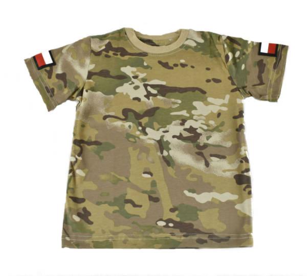 Koszulka dziecięca t-shirt w multicam