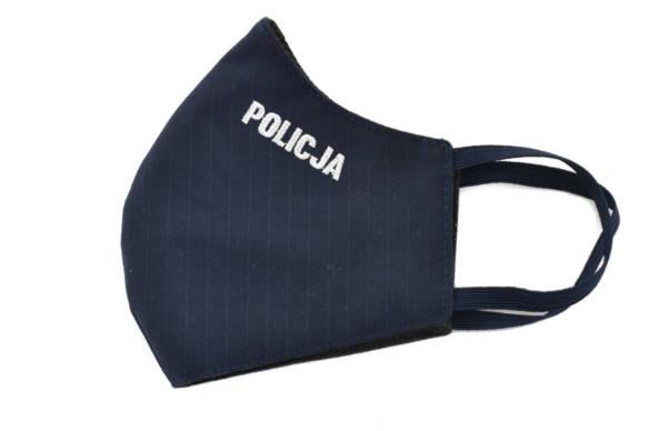 Maska maseczka ochronna haft policja bawełna
