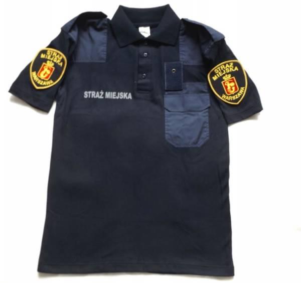 Koszulka polo granatowa straŻ miejska warszawa