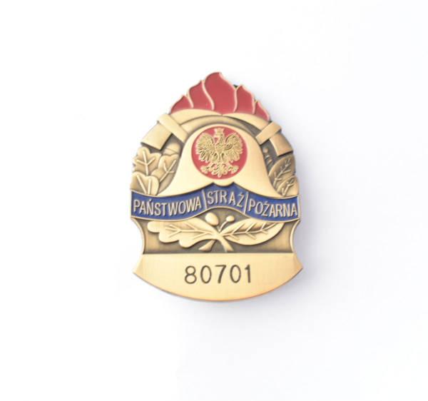 Odznaka blacha państwowa straż pożarna