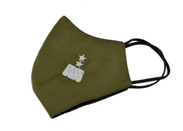 Maska maseczka oliwka haft generaŁ dywizji