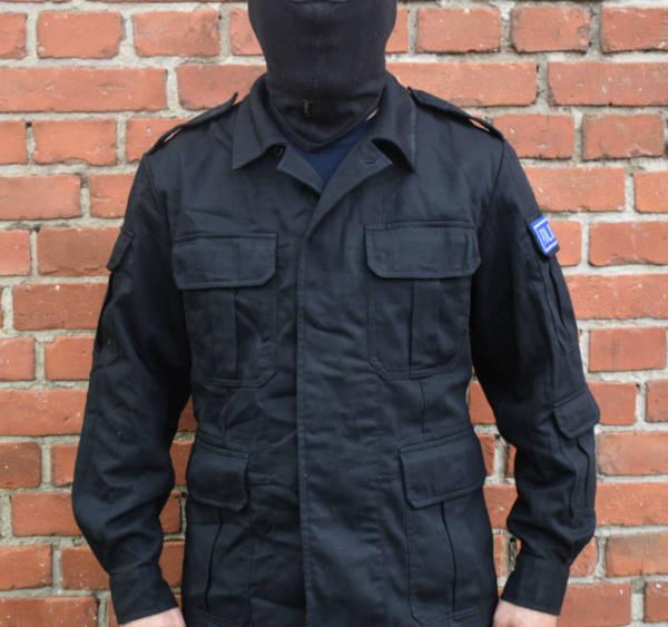 Bluza polowa czarna policji używana wzrost 163