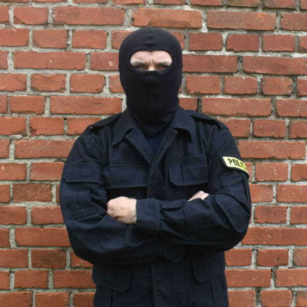 Bluza polowa czarna policji na wzrost 187