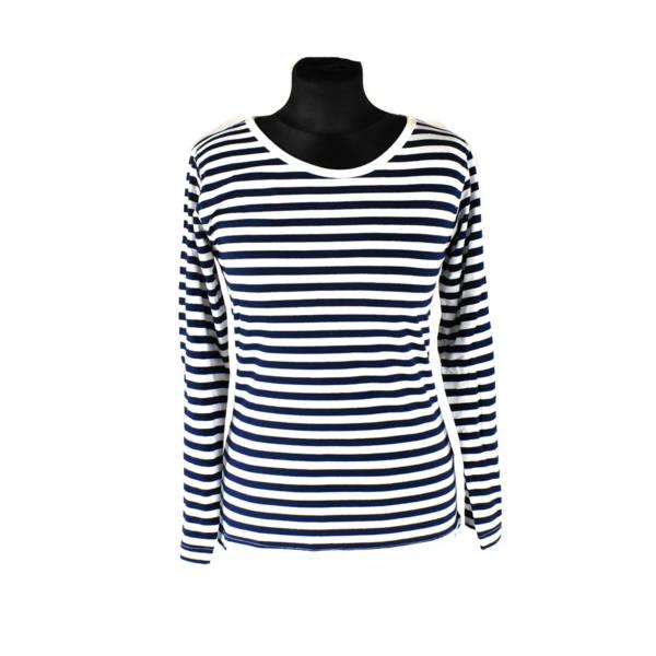 T-shirt koszulka marynarska damska, długi rękaw