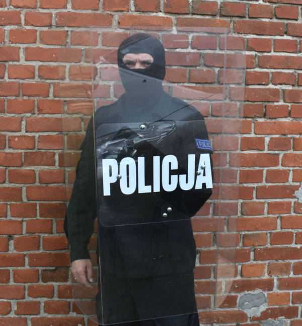 Tarcza ochronna policja maskpol policyjna