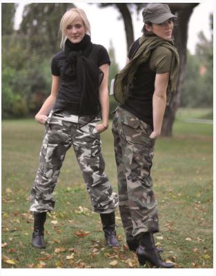Damskie spodnie bojówki mil-tex bdu moro