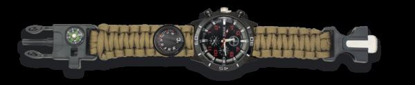 Zegarek survivalowy 33879-co kompas krzesiwo paracord