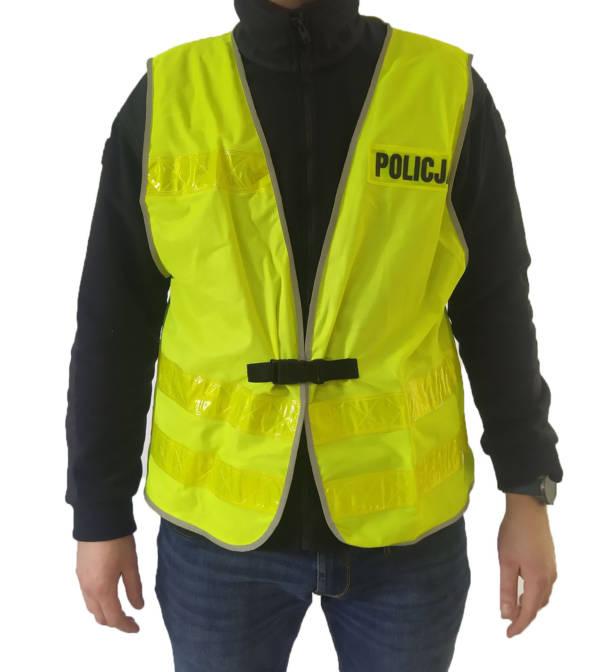 Kamizelka odblaskowa policji używana