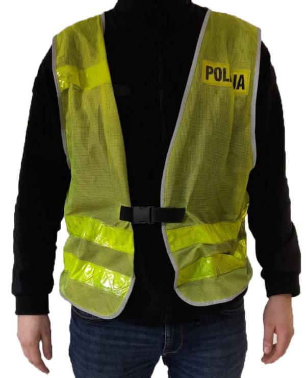 Kamizelka odblaskowa policji siatka używana