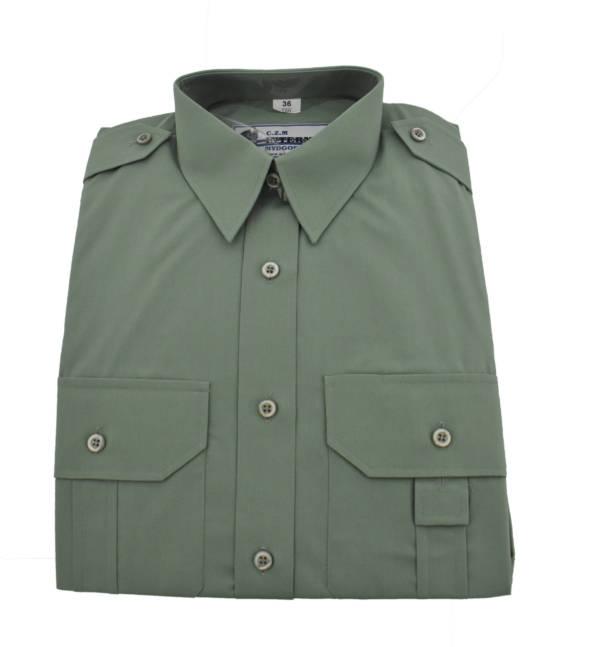 Koszula sŁuŻba celna długi rękaw zielona