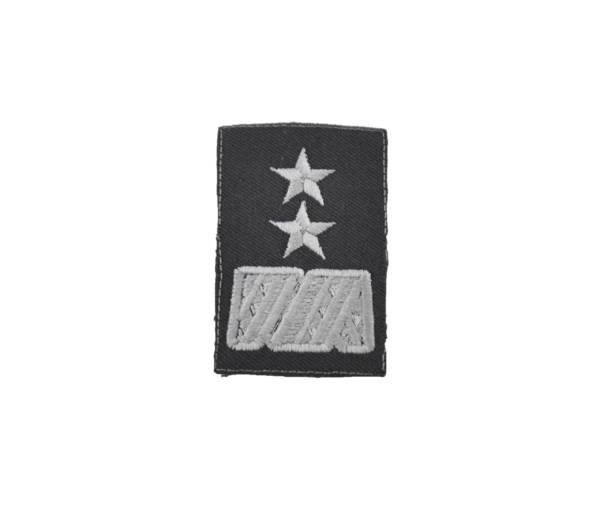 Stopień na furażerkę stalową generał dywizji haftowany