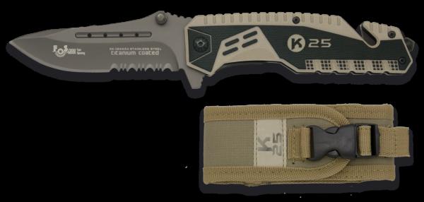 Nóż taktyczny k25 kojot.8.7 fos model 19443-a