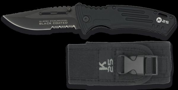 Nóż taktyczny k25 black coated model 19763 + etui