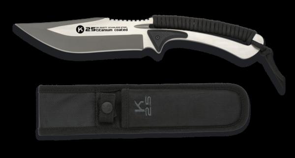 Nóż k25 czarny nóż strunowy model 32377