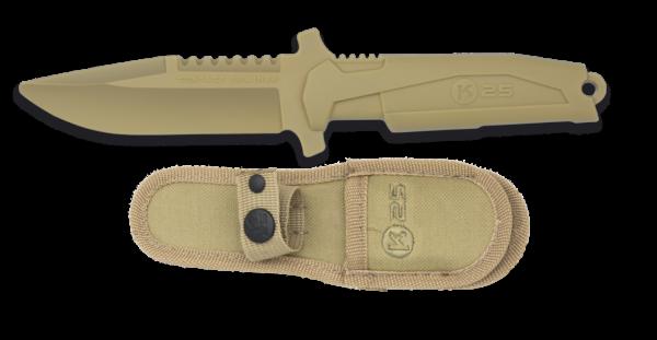 Nóż treningowy k25 model 32464 kremowy