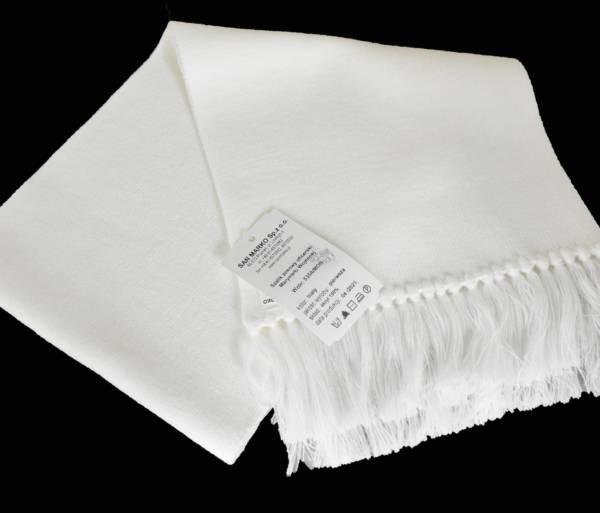 Szalik zimowy oficerski biały wzór 535a/mon