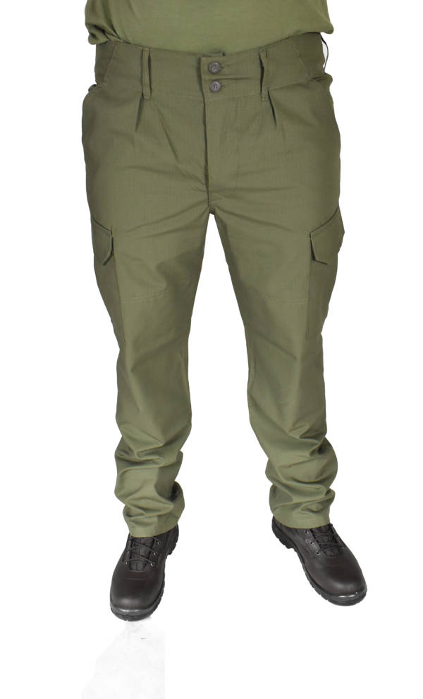 Spodnie wojskowe bojówki olivka ripstop