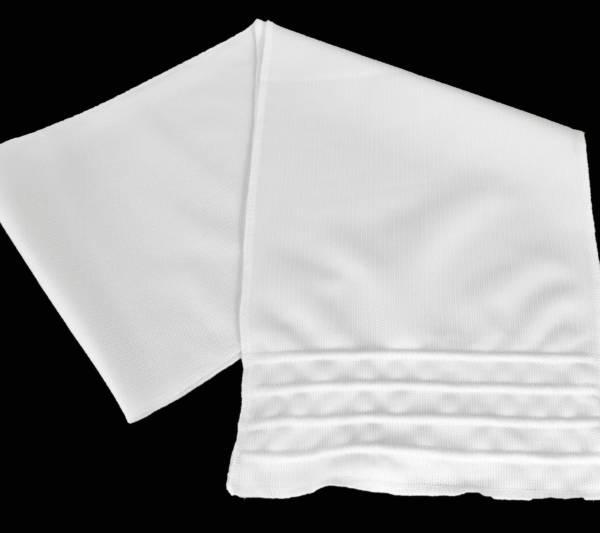 Szalik letni biały wzór 537/mon