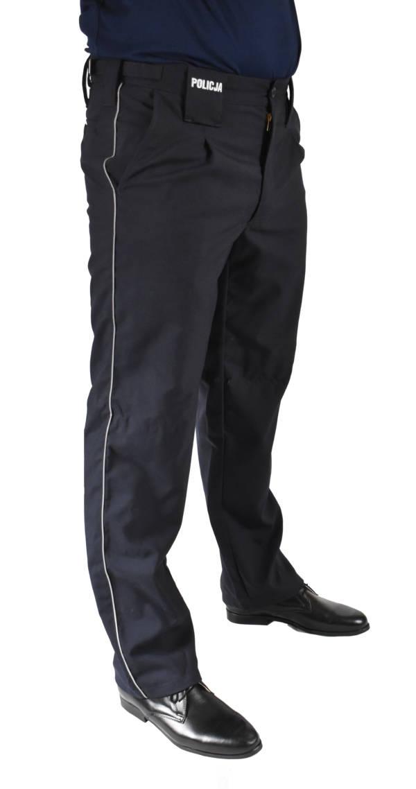 Spodnie służbowe granatowe policji do półbutów